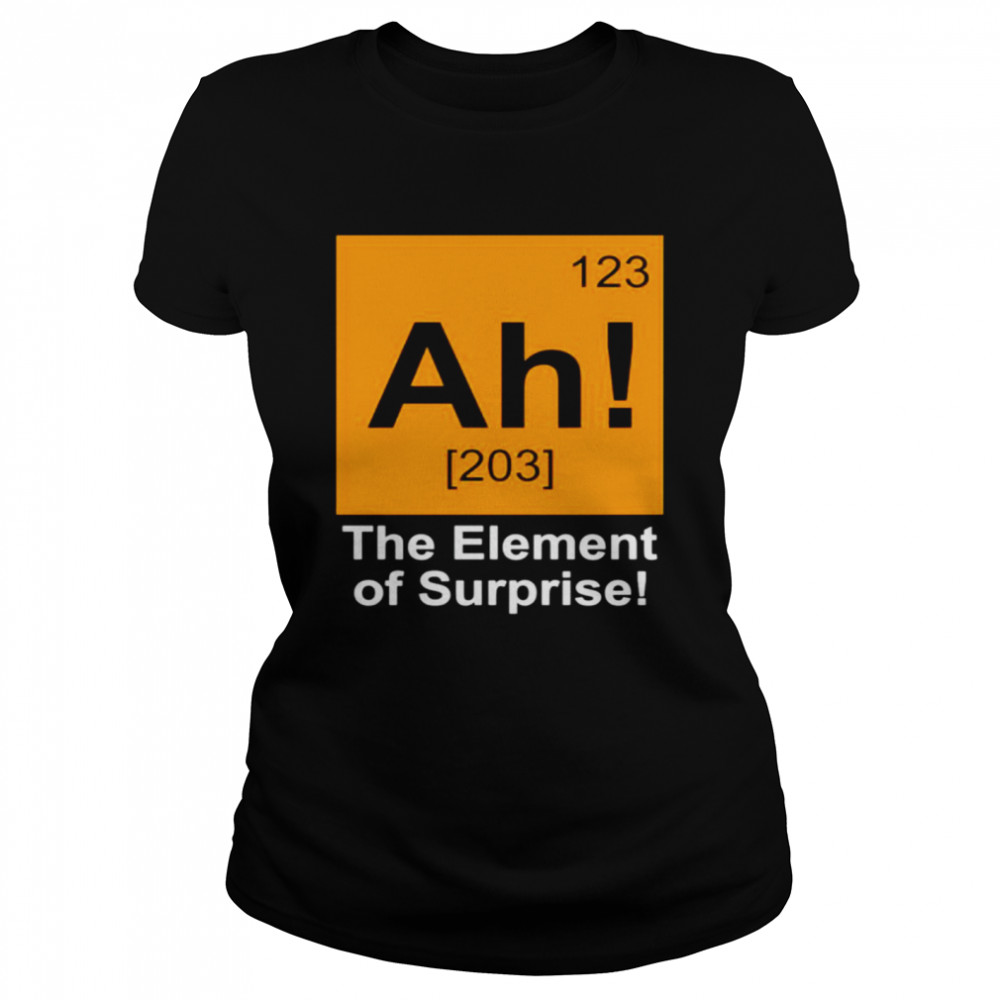123 Ah 203 the element of surprise shirt Classic Women's T-shirt