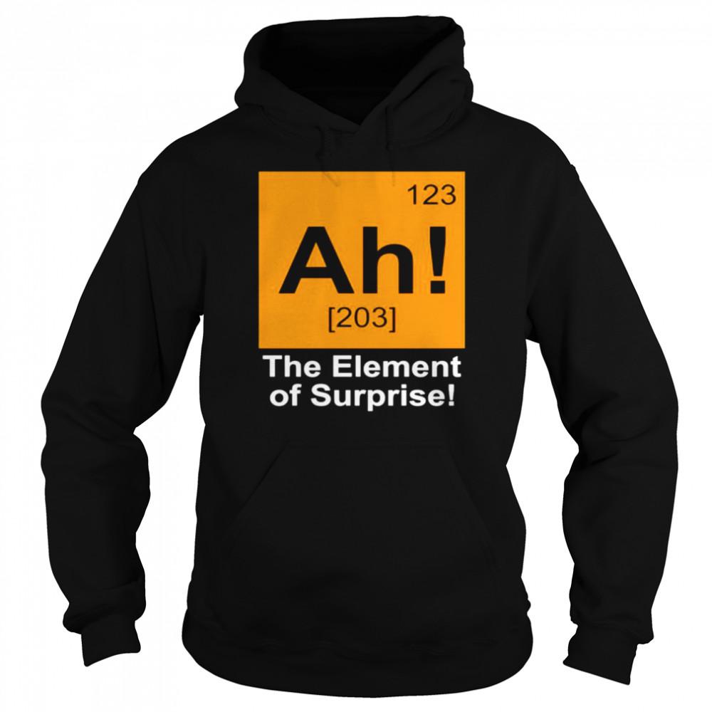 123 Ah 203 the element of surprise shirt Unisex Hoodie