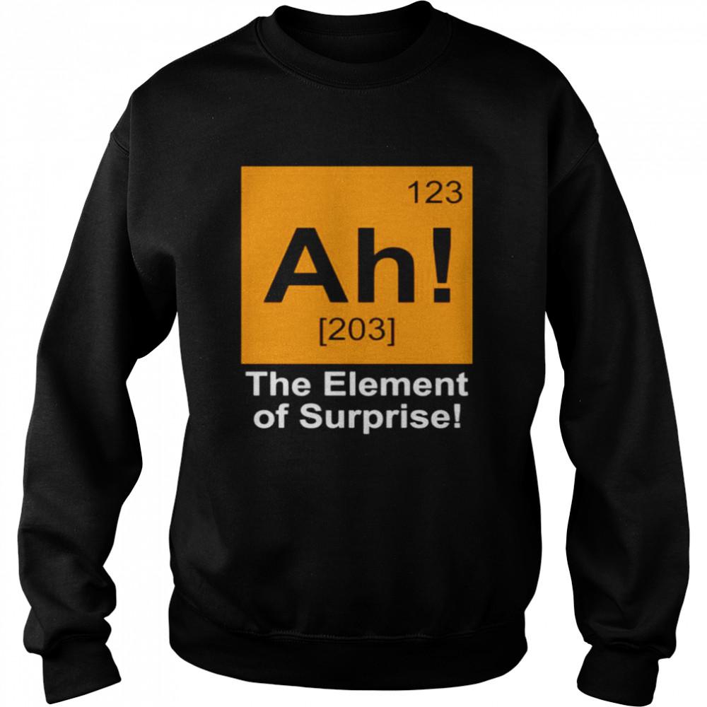 123 Ah 203 the element of surprise shirt Unisex Sweatshirt
