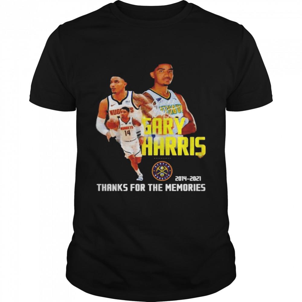 Gary Harris 2014 2021 thanks for the memories signature shirt