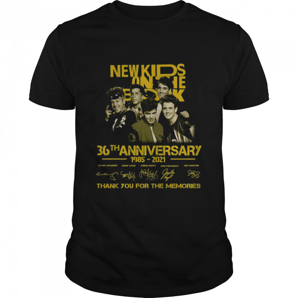 The New Kids On The Block 36th Anniversary 1985 2021 Signatures Thank You For The Memories shirt