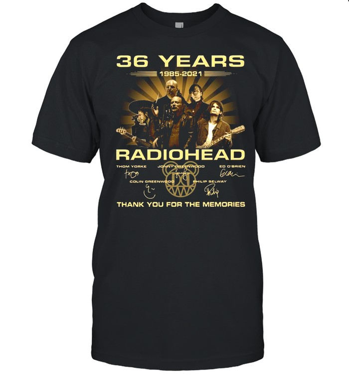 36 Years Radiohead Thank You For The Memories Signatures shirt Classic Men's T-shirt