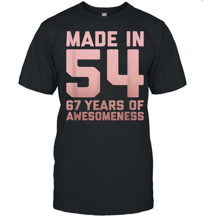 67th Birthday Man Age 67 Year Old Grandma 1954  Classic Men's T-shirt