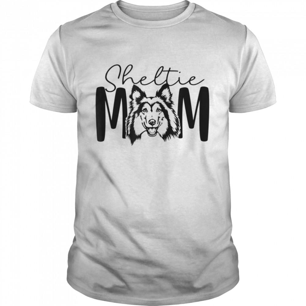 Sheltie Mom For Shetland Sheepdog Sheltie Mama  Classic Men's T-shirt