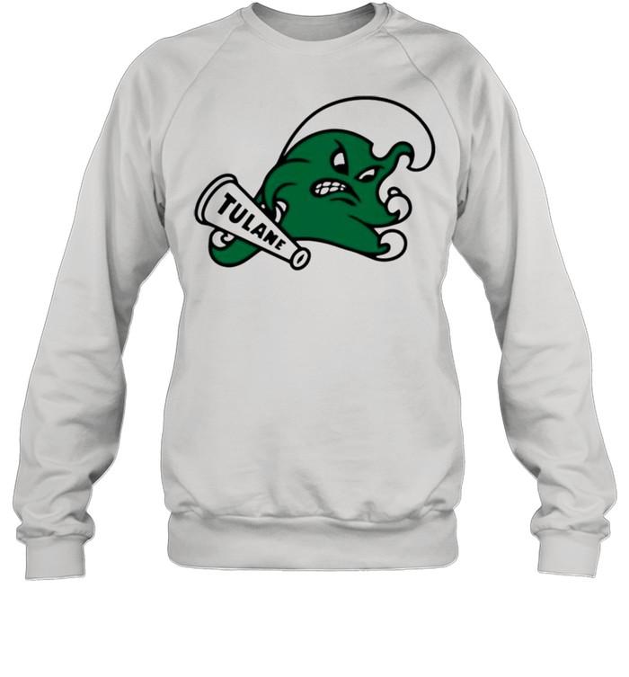 Angry wave halter top tulane shirt Unisex Sweatshirt