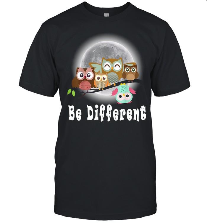 Be Different Owls Fun Bird Owl Saying T-shirt Classic Men's T-shirt