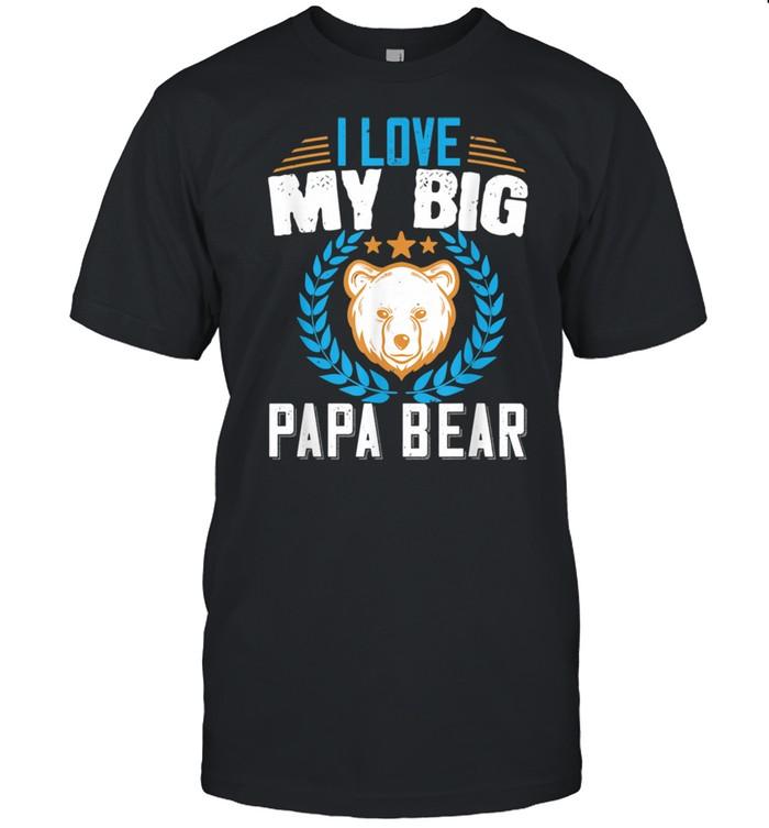 Retro Vintage Sunset Papa Bear Hiking Camping Hunting Shirt