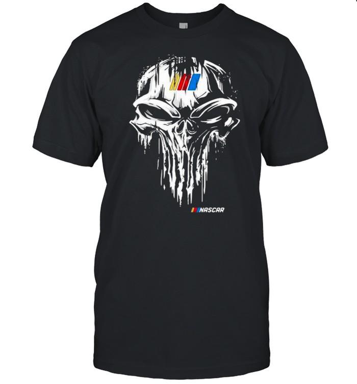 Punisher With Nascar Logo Shirt