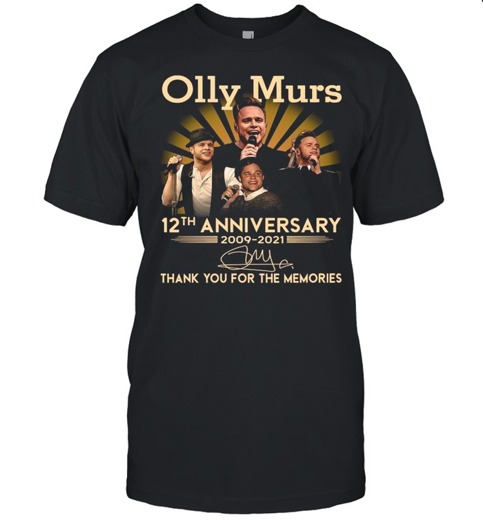 Olly Murs 12th Anniversary 2009 2021 Signature Thank You For The Memories shirt Classic Men's T-shirt