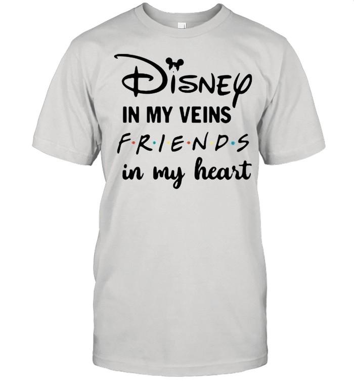 Disney Is My Veins Friends In My Heart  Classic Men's T-shirt