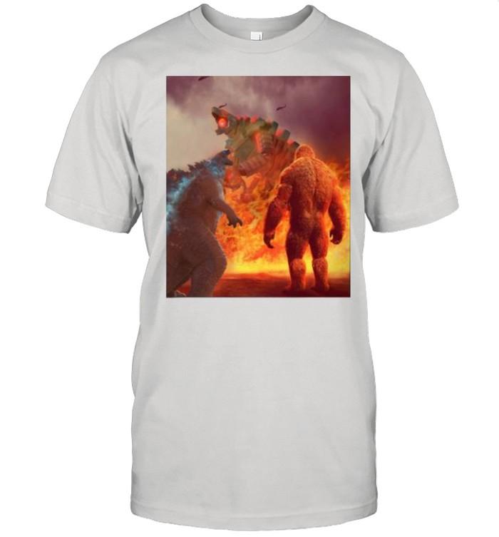 King And Godzilla Team Monster Shirt