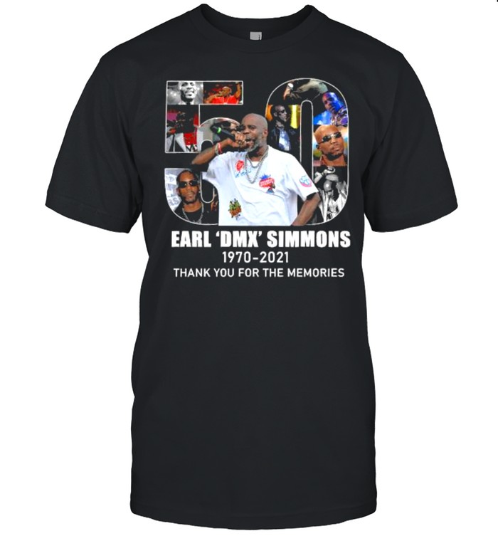 50 Earl Dmx Simmons 1970 2021 Thank You For The Memories  Classic Men's T-shirt