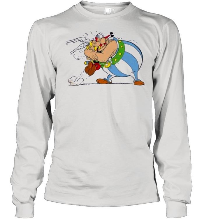 Big hug angry asterix and obelix sleeve white kids shirt Long Sleeved T-shirt