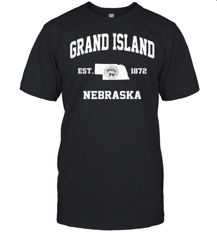 Grand Island Nebraska NE vintage State Athletic style shirt Classic Men's T-shirt