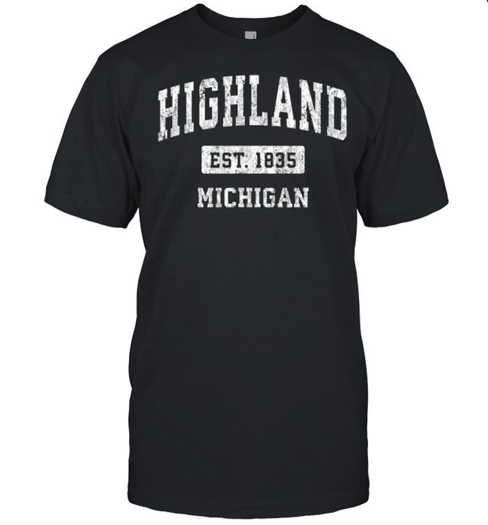 Highland Michigan EST 1835 shirt Classic Men's T-shirt