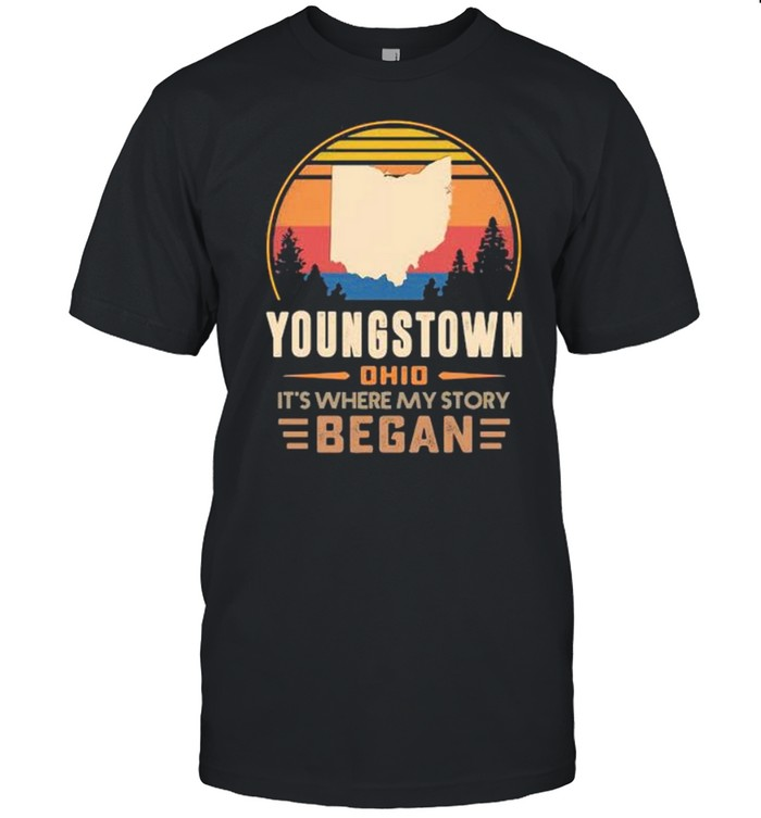 Youngstown Ohio It's Where My Story Began Vintage  Classic Men's T-shirt