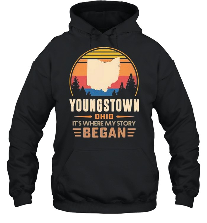 Youngstown Ohio It's Where My Story Began Vintage Unisex Hoodie