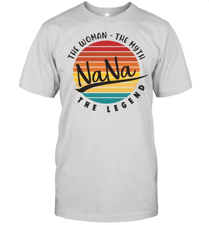The Woman The Myth Nana The Legend Vintage Retro T-shirt