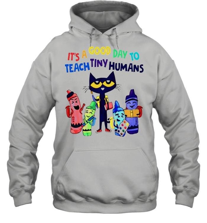 Teach its a good day to teach tiny humans shirt Unisex Hoodie