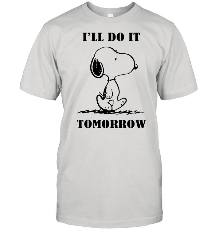 Snoopy Ill do it tomorrow shirt Classic Men's T-shirt