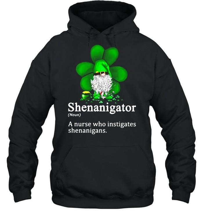 Gnome Shenanigator A Nurse Who Instigates Shenanigans  Unisex Hoodie