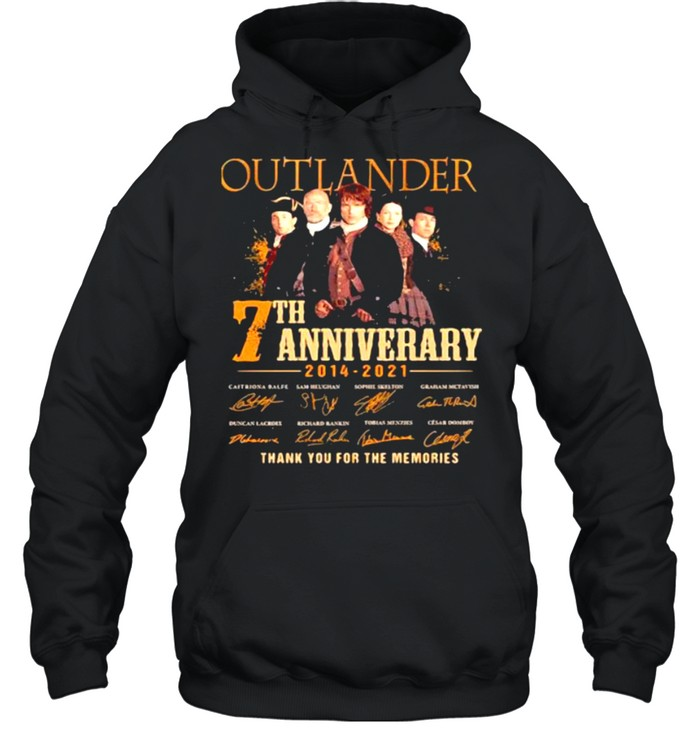 Outlander 7th Anniversary 2014 2021 Thank You For The memories Signature  Unisex Hoodie