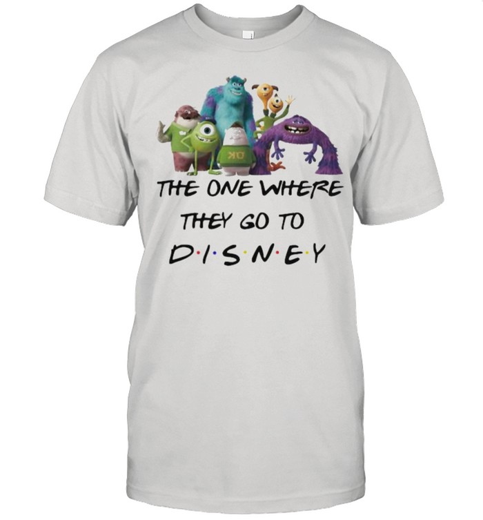 The One Where They Go To Disney Monster University Movie  Classic Men's T-shirt