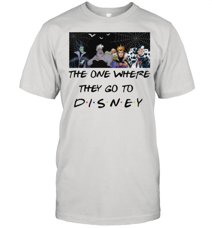 The One Where They Go To Villains Movie Disney  Classic Men's T-shirt