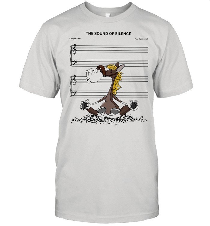 The Sound Of Silence Horse  Classic Men's T-shirt
