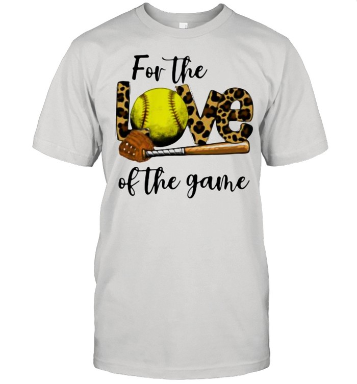 For The Love Of The Game Softball Lepoard  Classic Men's T-shirt