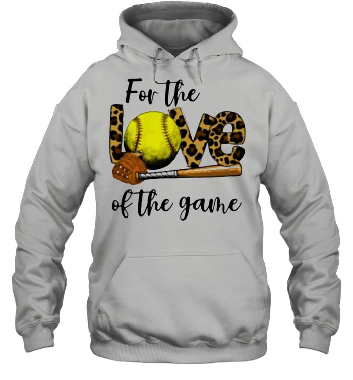 For The Love Of The Game Softball Lepoard Unisex Hoodie