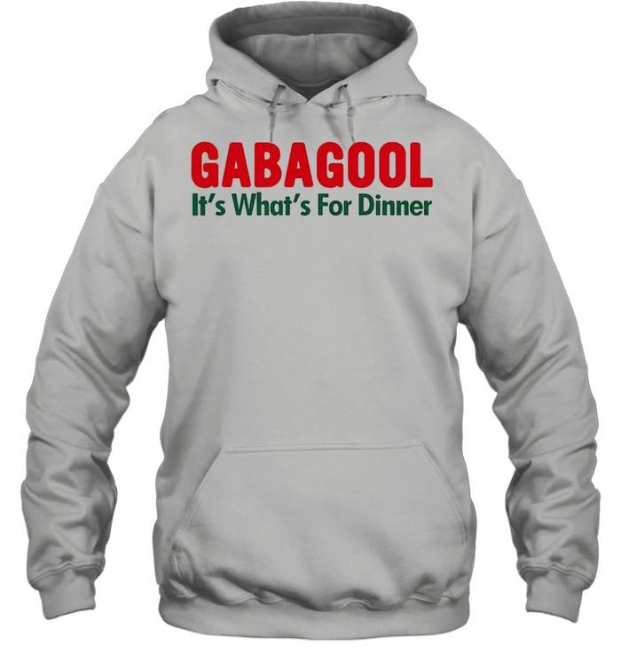 Gabagool its whats for dinner shirt Unisex Hoodie