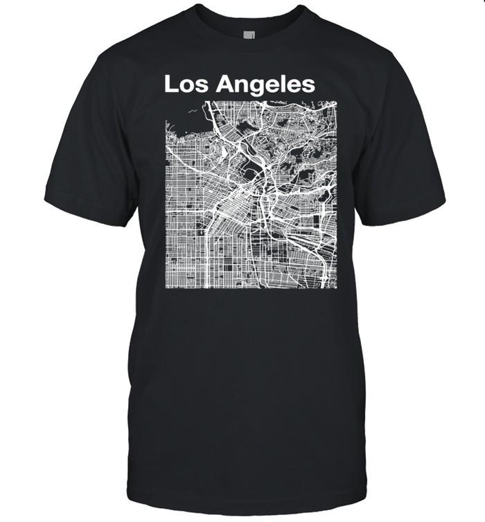 Los Angeles California Vintage Style City LA Street Map shirt Classic Men's T-shirt