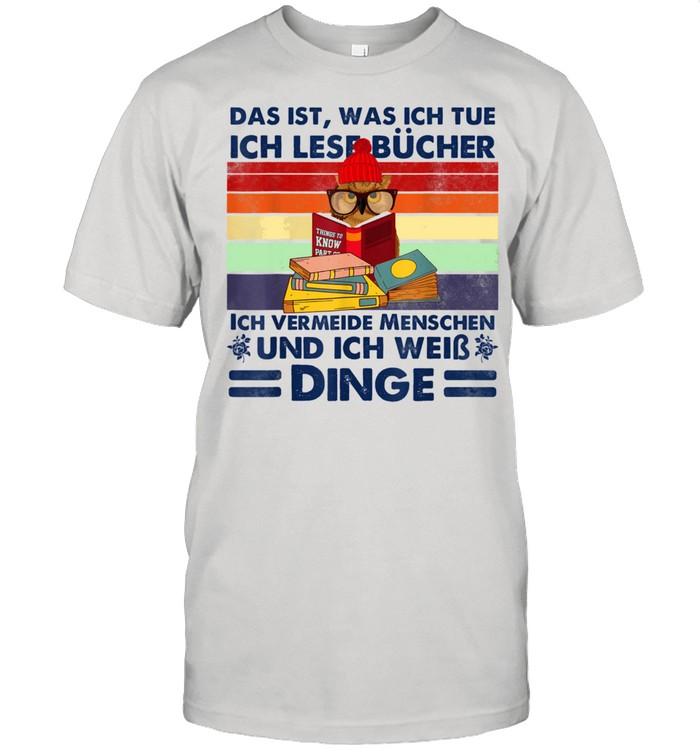 Das ist was ich tue, lustige Buchleser shirt Classic Men's T-shirt