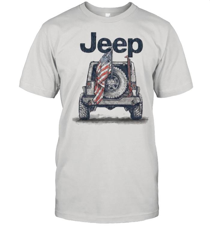 Jeep American Flag  Classic Men's T-shirt