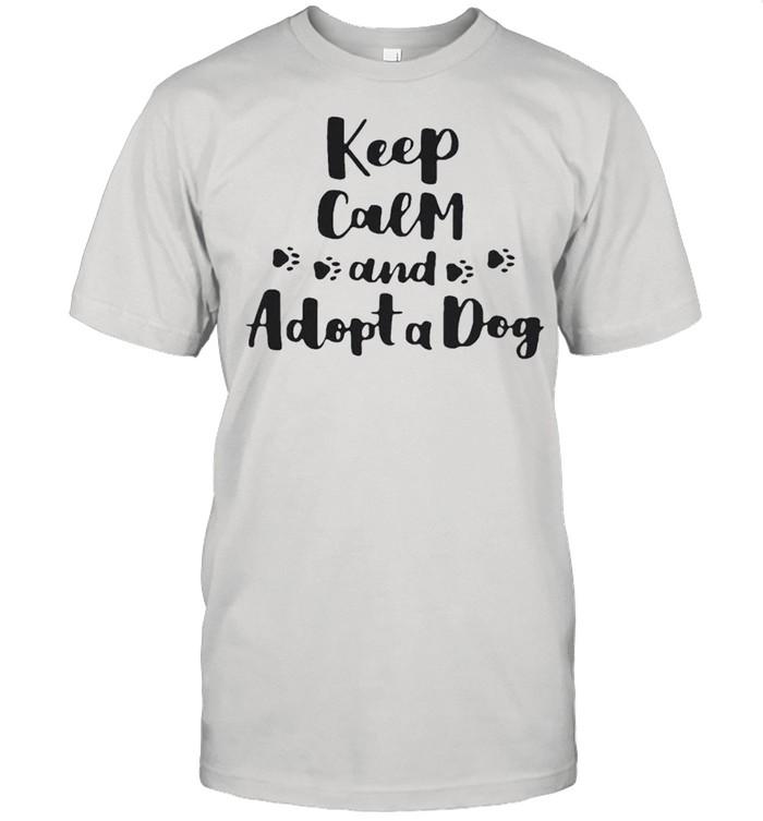 Keep calm and adopt a dog shirt Classic Men's T-shirt