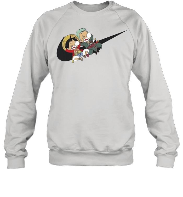 Variation Nike Luffy And Zoro shirt Unisex Sweatshirt