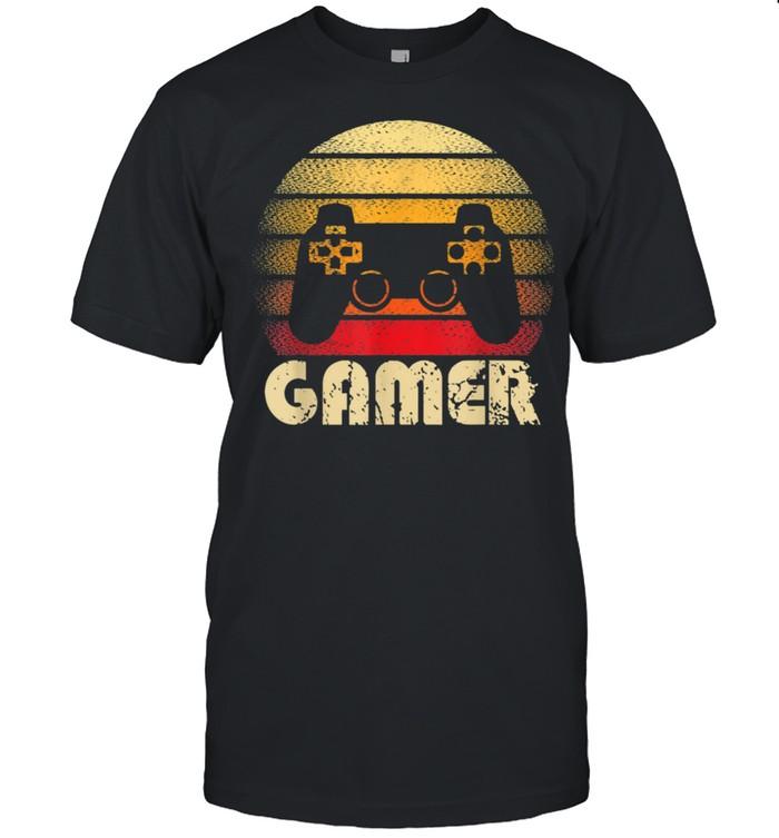 Vintage Retro Gamer Video Game Player Gaming Boysns shirt Classic Men's T-shirt