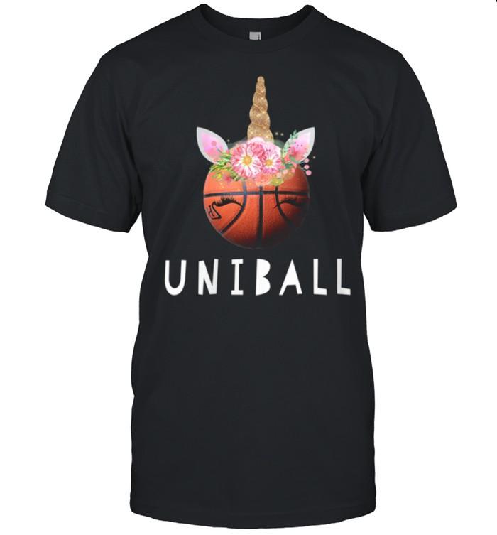 Womens Uniball Basketball Unicorn shirt Classic Men's T-shirt