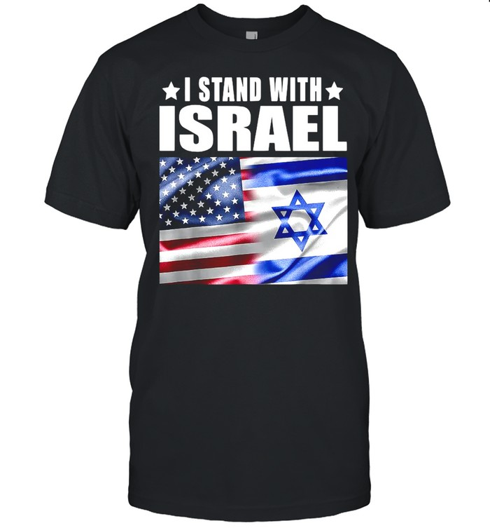 I Stand With Israel Us Flag Combined  Classic Men's T-shirt