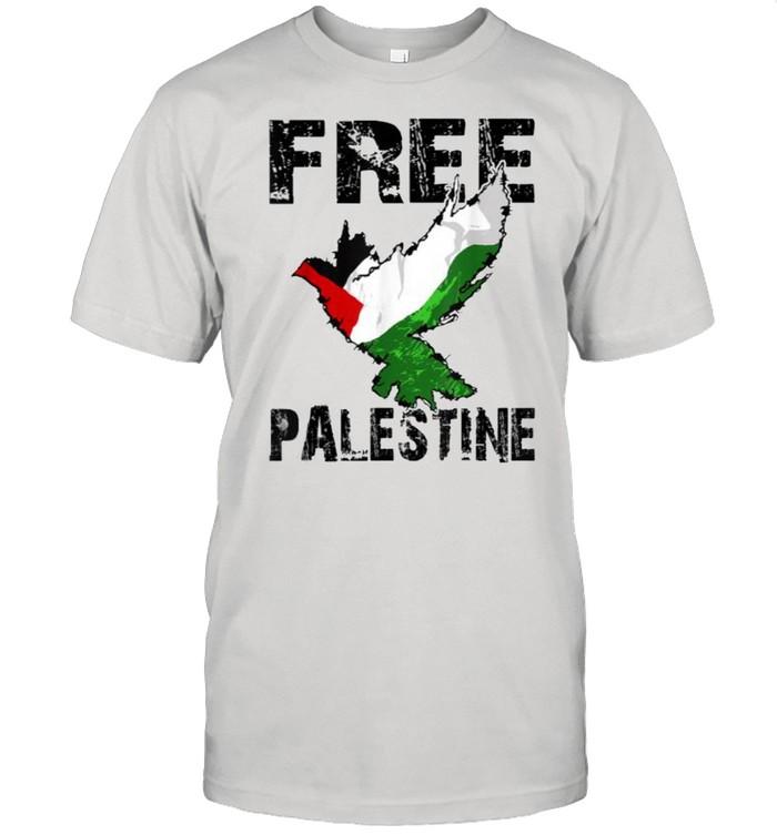 Free Palestine Palestinian Flag Bird Eagle Palestine T- Classic Men's T-shirt
