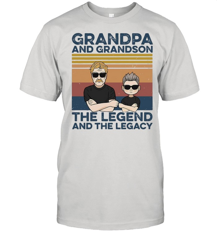 Grandpa And Grandson The Legend And The Legacy Best Friends  Classic Men's T-shirt
