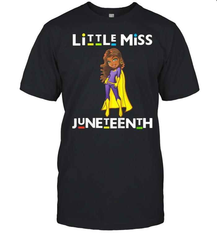 Little Miss Juneteenth Black Girl Melanin Cute Toddler Girls T- Classic Men's T-shirt