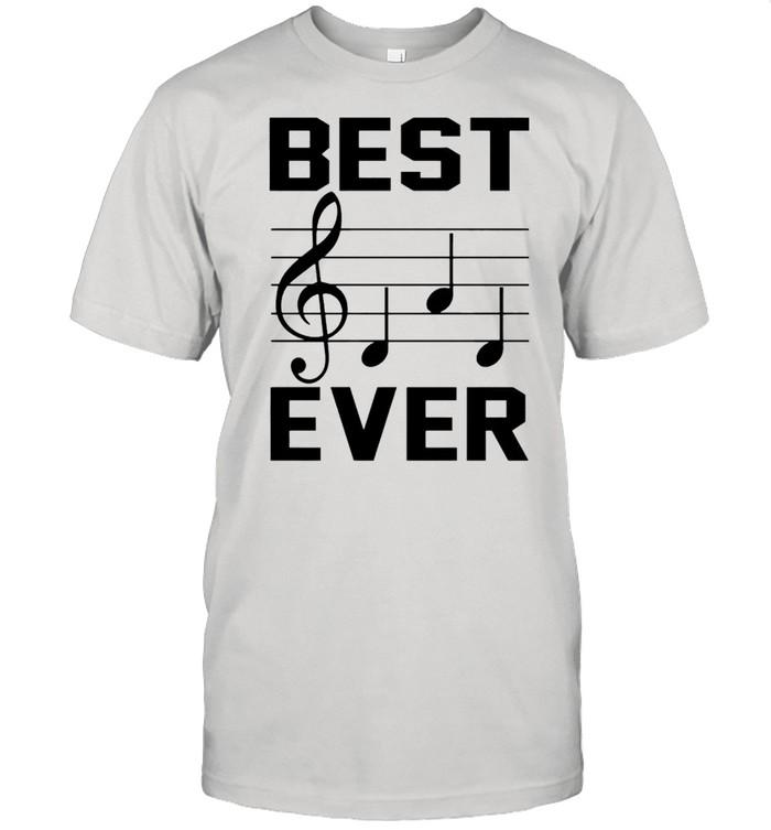 Music note best dad ever shirt Classic Men's T-shirt