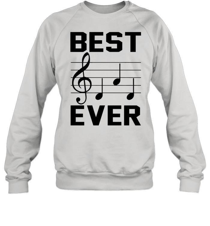 Music note best dad ever shirt Unisex Sweatshirt