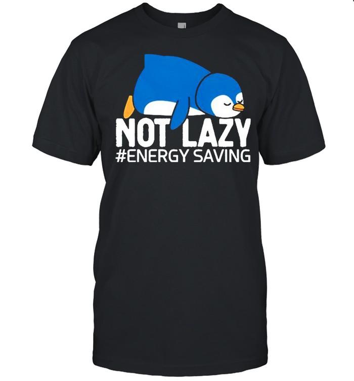 Penguin not lazy energy saving shirt Classic Men's T-shirt