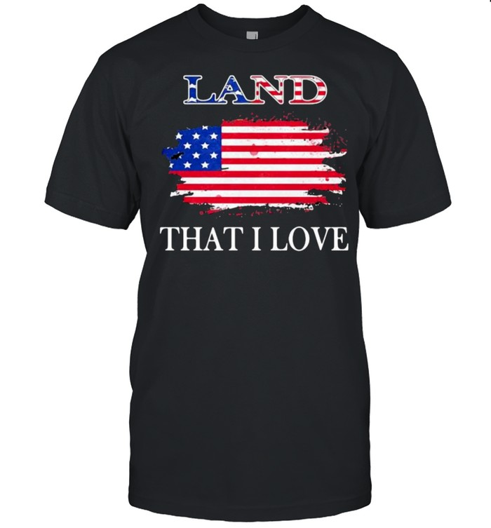 Land that i love american flag shirt Classic Men's T-shirt