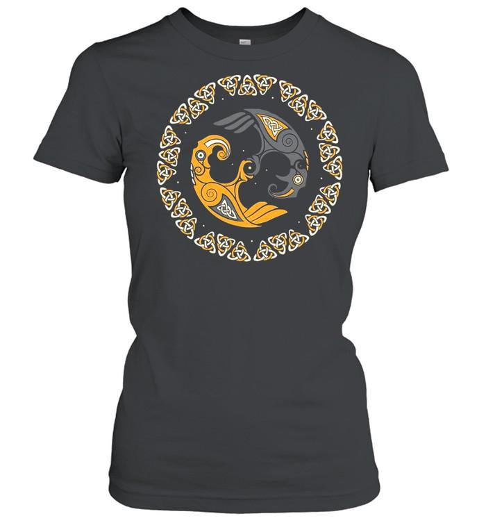 Huginn And Muninn Odin's Twin Ravens Norse Mythology T-shirt Classic Women's T-shirt