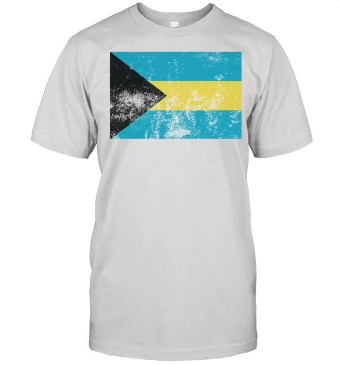 Retro Vintage Style The Bahamas Bahamian Flag Pride shirt Classic Men's T-shirt