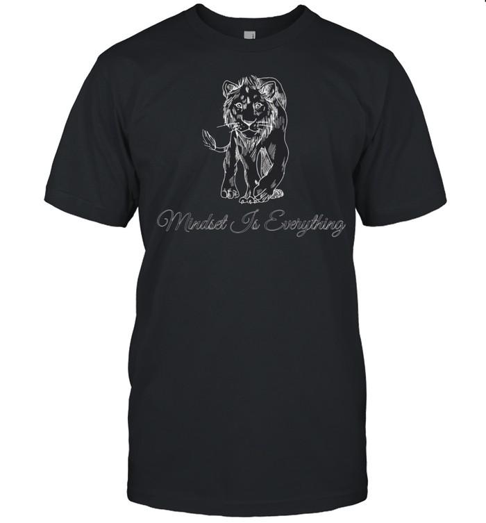 Motivational Lion Mindset Inspirational shirt Classic Men's T-shirt
